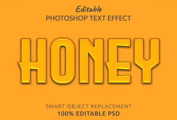 Editable Honey Photoshop Text Style Effect