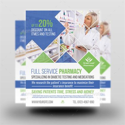 Editable Pharmacy Flyer Template