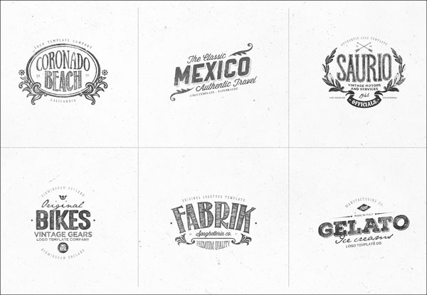 Editable Retro Logo Templates