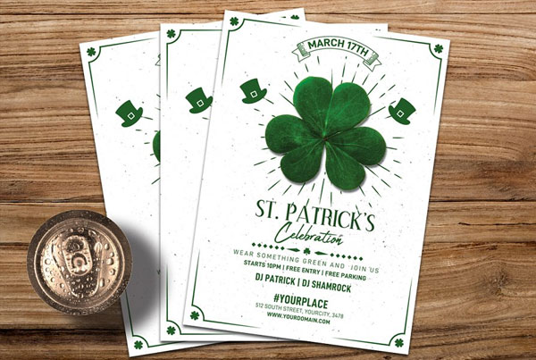 Editable St. Patricks Day Flyer