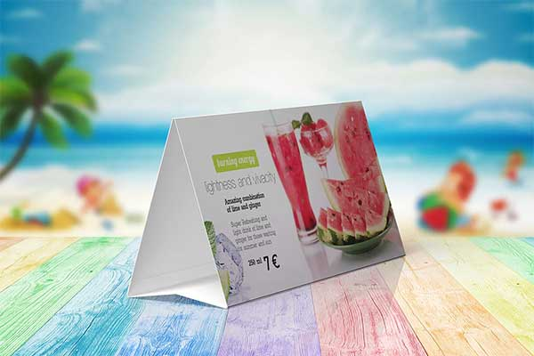 Editable Table Tent Mock-up Set