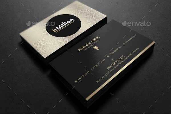 Elegant Black Business Card Templates