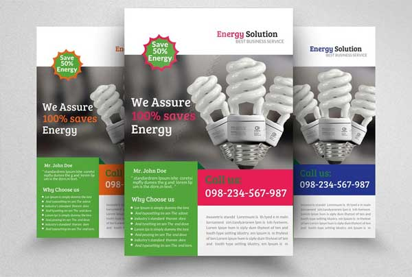 Energy Solution Flyer Printable Template