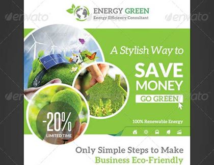 Energy Solution Flyer Templates