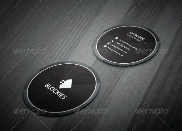 Exclusive Circle Business Card Mockup