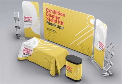 Exhibition Display Stand Kit Mockups