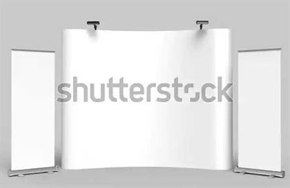 Exhibition Fabric Display Trade Show Booth PSD Mockup