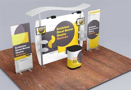 Exhibition Stand Display Mockups Template