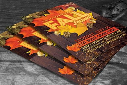 Fall Festival Season Flyer Template