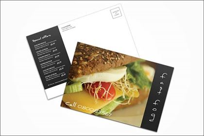 Fast Food Postcard Design Template