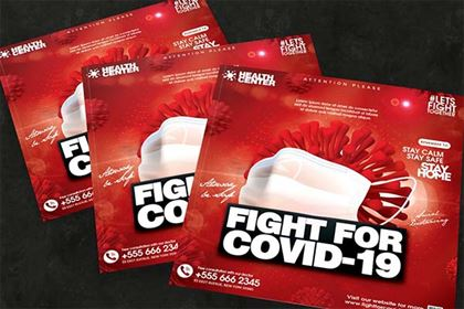 Fight For Corona Flyer Template