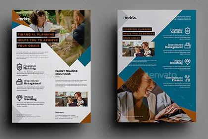 Finance Solutions Flyer Template