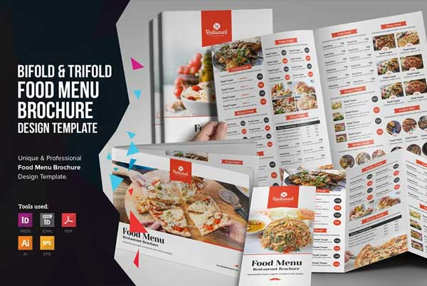 Food Menu Bifold-Trifold Brochure