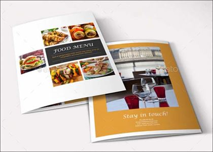 Food Menu Brochure Template Design