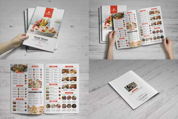 Food Menu Restaurant Brochure Bundle