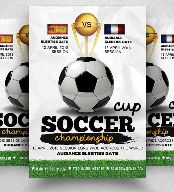 Football Match Flyer Template