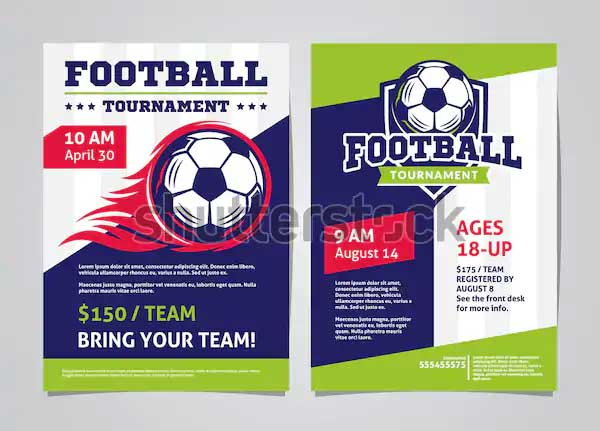 Football tournament poster