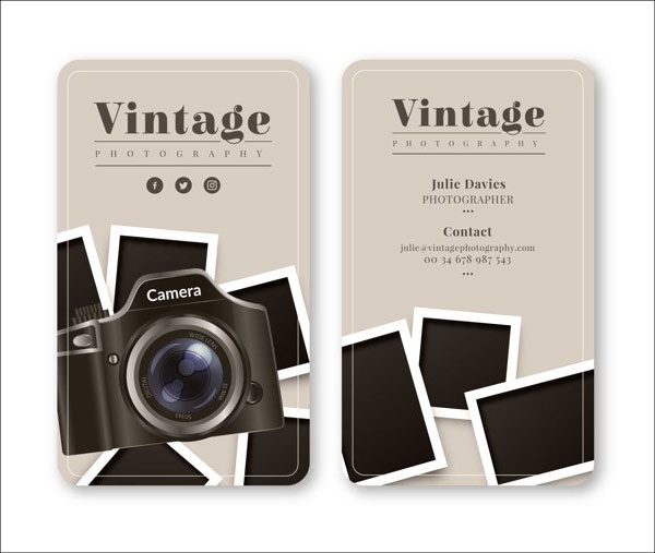 Free Business Card for Photography