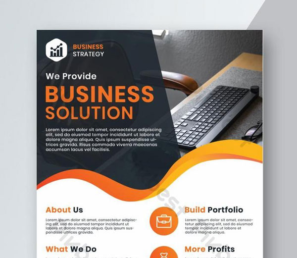Free Corporate Business Solution Flyer Template