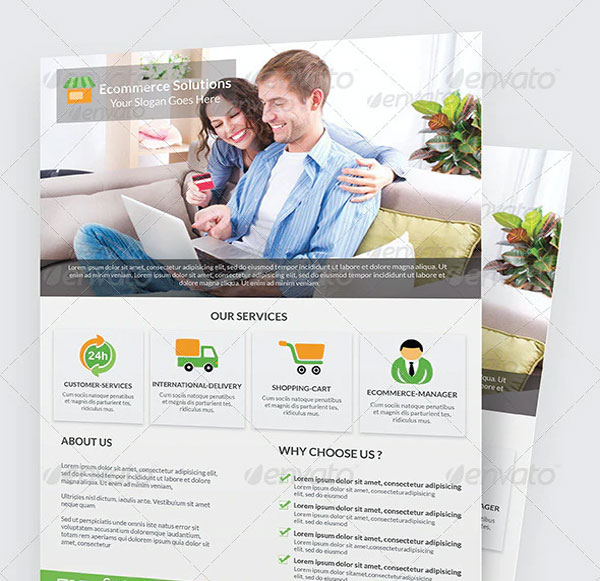 Free Ecommerce Solution Flyer Template