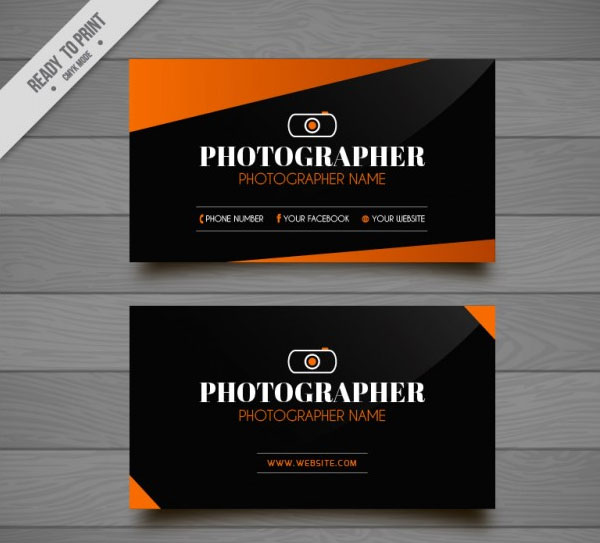 Free Modern Photography Business Card