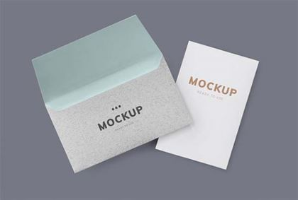Free PSD Envelope Mockup Template