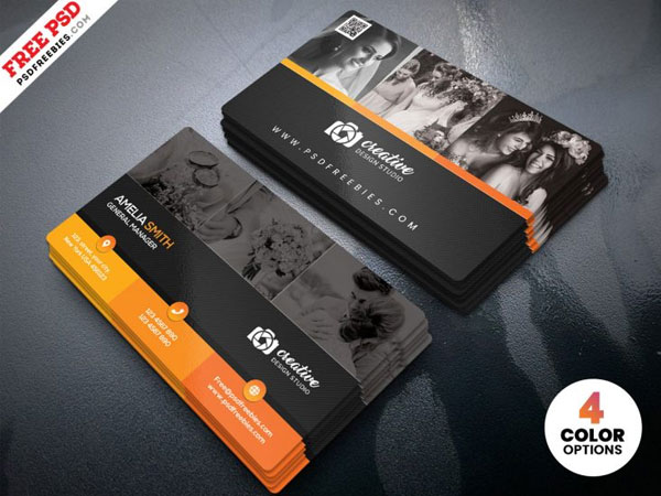 Free Professional Photographer Business Card Design PSD