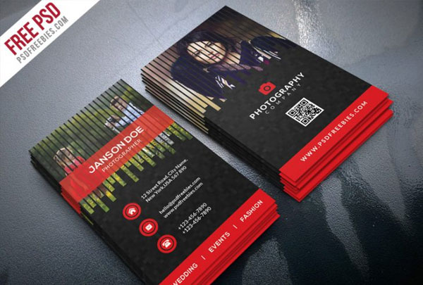Free Professional Photographer Business Card PSD Bundle