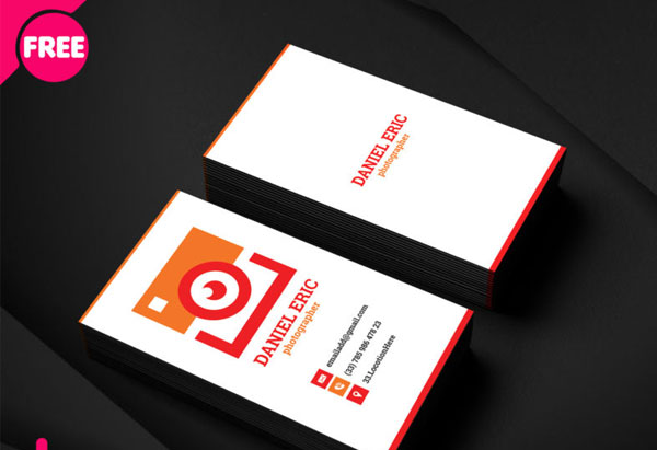 Free Simple Photographer Business Card