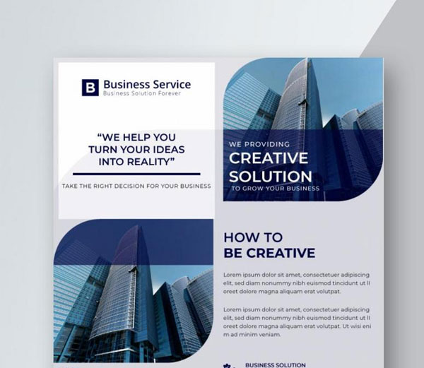 Free Solution Corporate Flyer Design Template
