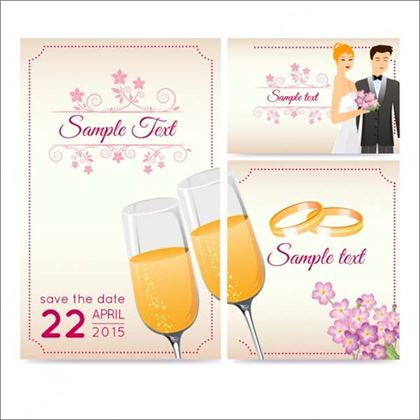 Free Wedding Greeting PSD Card Template