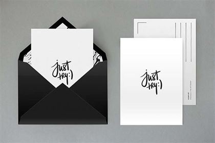 Fully Layered Envelope Mock up Template