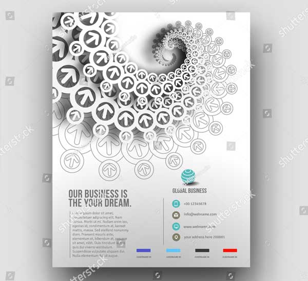 Global Business Flyer Template Design