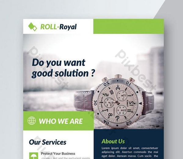 Free Good Idea Business Solution Flyer