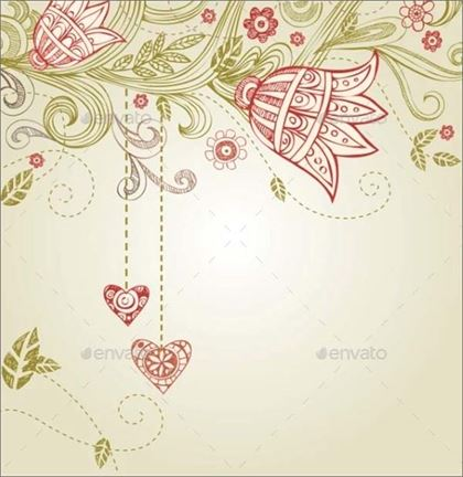 Greeting Card for Wedding and Valentine's Day