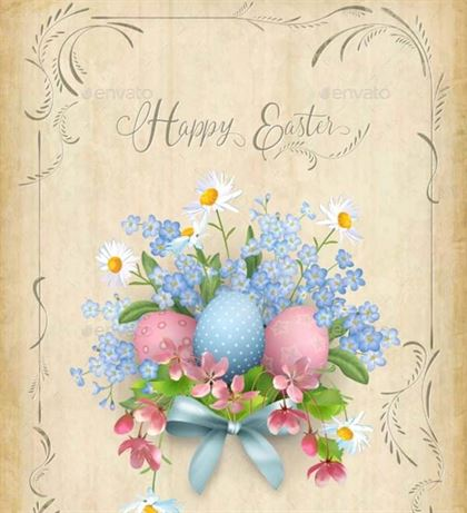 Happy Easter Card Design Template