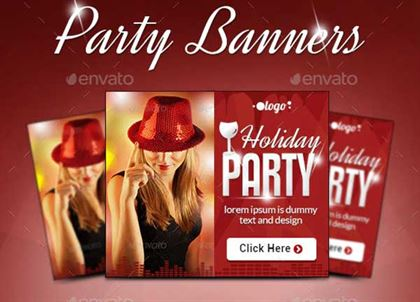 Holiday Event Party Banners