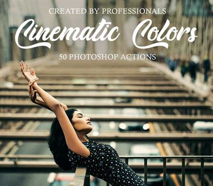 Hologram Cinematic Photoshop Actions Templates