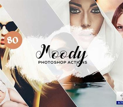 Hologram Moody Photoshop Actions Templates