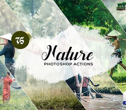 Hologram Nature Photoshop Actions Templates