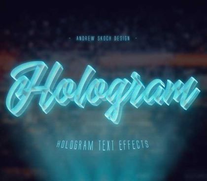 Hologram Text Effects Photoshop Actions