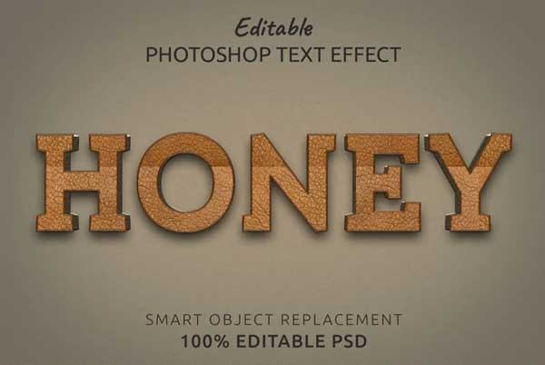 Honey Text Style Effect