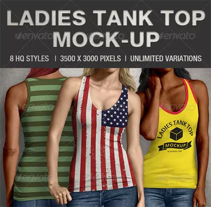 Ladies Tank Top Mock-up