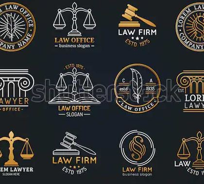 Law Office Logotypes Set Designs