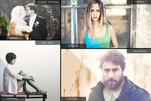 Light Effect Photoshop Actions Set