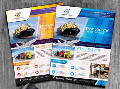 Logistic Solution Flyer Templates