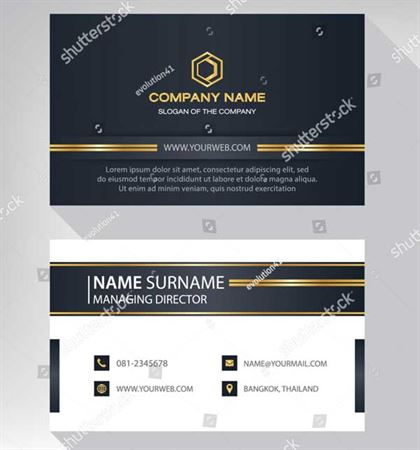 Luxury Modern Black Business Card