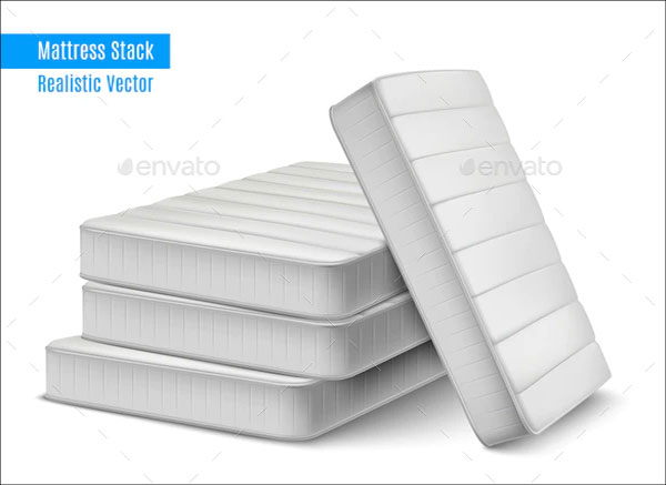 Mattress Stack Realistic Composition Mockup