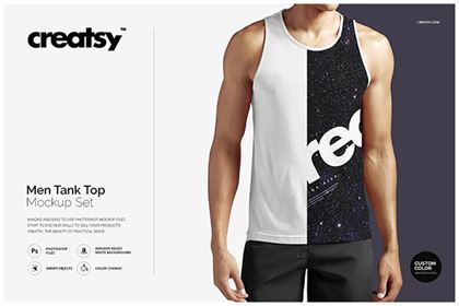 Men Tank Top Mockup Set