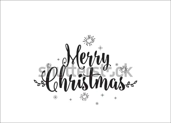 Merry Christmas Logo Typography